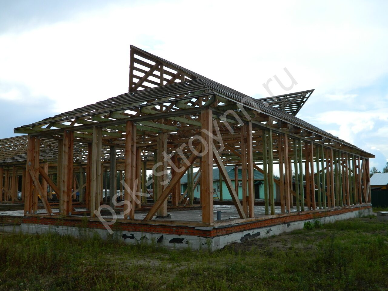 Каркасные дома из пропитанной древесины